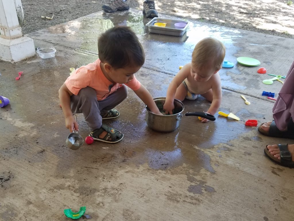 Story time water exploration