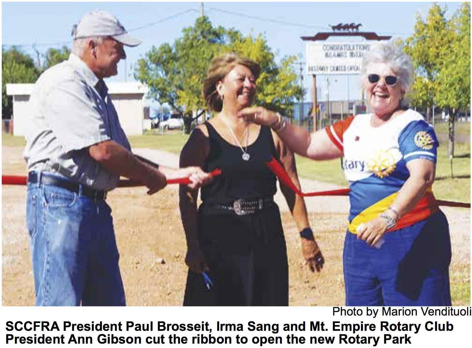 Rotary Park Opens in Sonoita